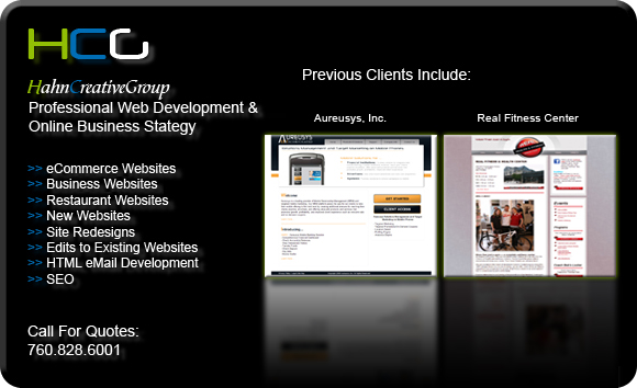 HahnCreativeGroup Website Design